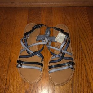 Blue Strappy Sandals